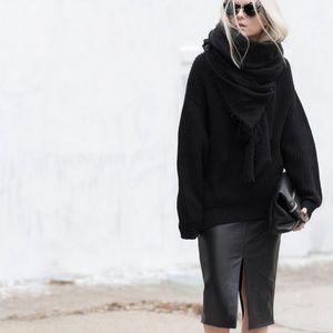 Aritzia Jax Faux Leather Skirt